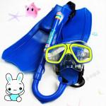 Kinder Tauchen Schwimmen Set 3stk Brille Mask + Dry Schnorchel + Flippers Wassersport