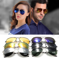 Klassiska S / L Unisex- Aviator Solglasögon Polarized Goggles Glasögon UV400