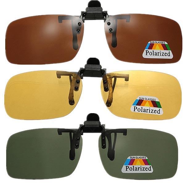 Clip-on Solbriller Polariseret Nattesyn Briller Lens Solbriller