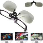 Clip On Circular 3D Polarized Myopia Eye Glasses Lens TV Cinema Movie Film Imax Sunglasses