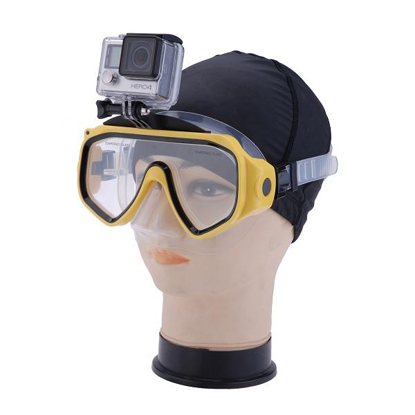 Taucherbrille Schwimmbrille für GoPro Halterung für Freisprecheinrichtung Tauchen Wassersport