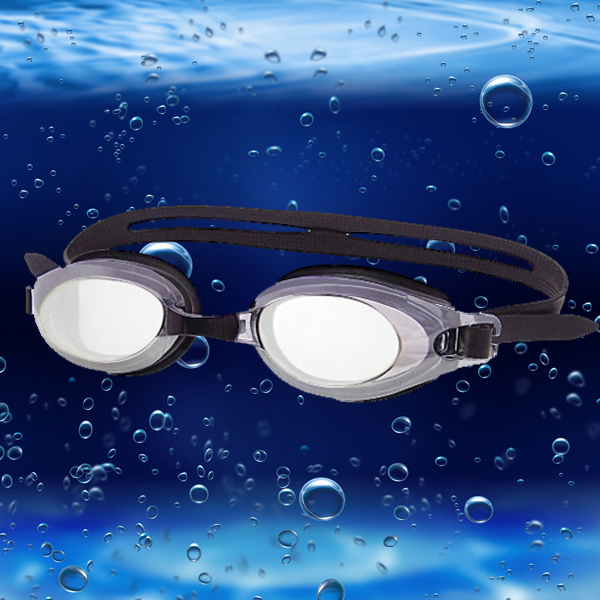 Electroplate Swimming Goggles Silica Gel Cap Earplug Swimming Suit Water Sports