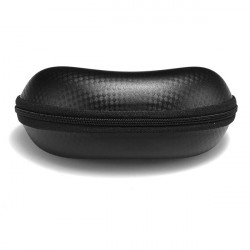 Mode Glasögon Case Solglasögon Zipper Väska Box Black