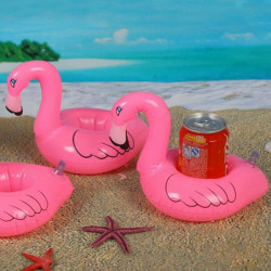 Flamingo Drink Kan Oppustelig Svømningpool Beach Badning Can Holder