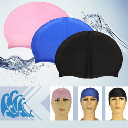Flexible Durable Silicone Elasticity Swimming Hat Swim Cap for Adult