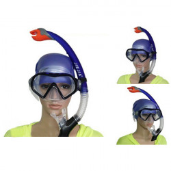 Full Dry Breathing Tube Diving Goggles Toughened Glass Mask Suit