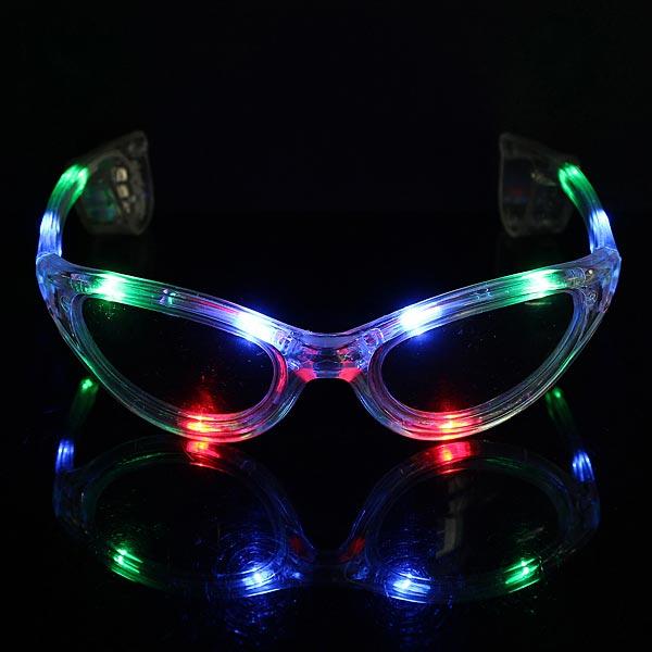 LED Solbriller Blinkende Farverige Glow Solbriller Solbriller