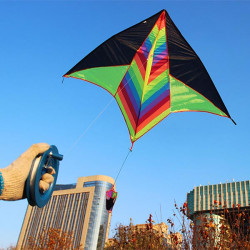Långsvansad Portable Star Triangle Kite Classic Fun Sport