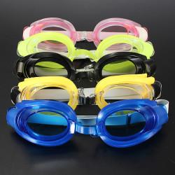 Non-Fogging Swimming Goggles + Nose Clip + Swim Ear Plugs Set