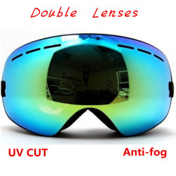 Outdoor Skiing Snowboard Goggles Double Lens Anti-fog Ski Goggles