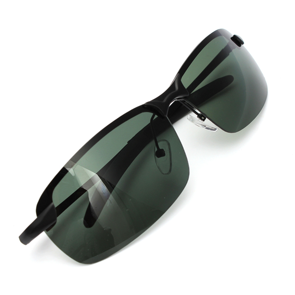 Outdoor Sunglasses Dark Green Metal Frame Polarized Sunglasses Sunglasses