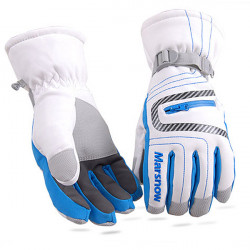 Pattern Waterproof Warm Skiing Gloves Riding Snowboard