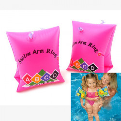 Pink Inflatable Floating Arm Swim Ring for Child Pool Beach