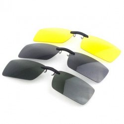 Polarized Clip On Sunglasses Night Vision Clip Driver Glasses Lens