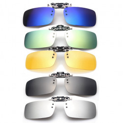 Polarized Clip On Sunglasses Sun Glasses Driving Night Vision Lens