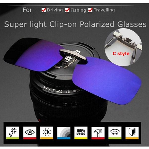 Polariseret Clip On Solbriller Solbriller Driving Nat Vision Lens Solbriller