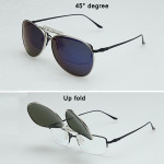 Polarized Sunglasses Clip Sun Glasses Driving Night Vision Lens Sunglasses