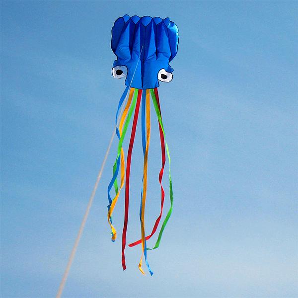 Bærbar Farverige Octopus Blød Udendørs Sport Flyende Drage 5.5 Udendørs Leg