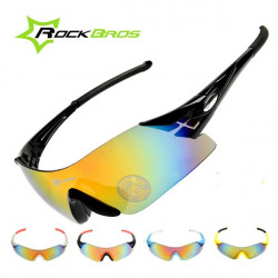 ROCKBROS Polarized Cycling Glasses Bike Bicycle Windproof Sunglasses
