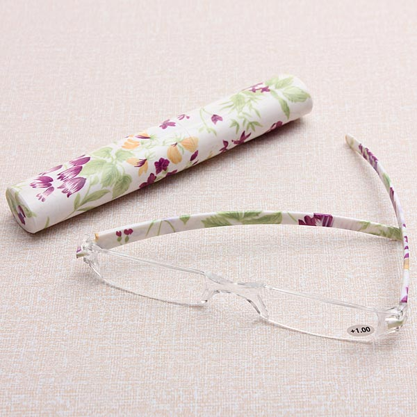 Rimless Presbyopic Reading Glasses With Case Sunglasses