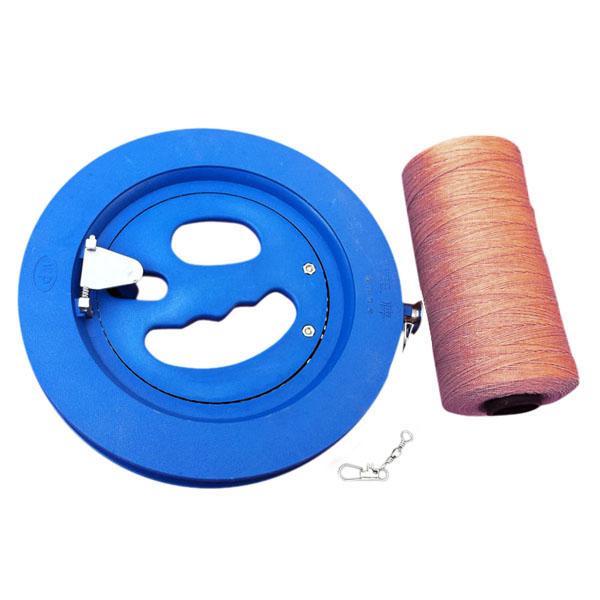 Runde blaue Kunststoff ABS 18cm Drachen Haspel mit 220m Steckverbinder Outdoor Erholung