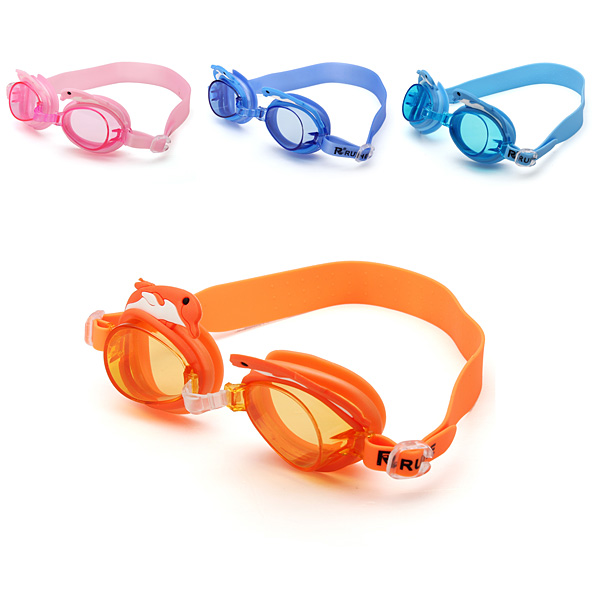 Silicone Dolphin Swimming Goggles Children Anti-fog Swimming Glasses Water Sports