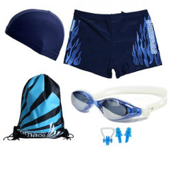 Badedragt Svømmebriller Og Hat Svømning SET til Mænd