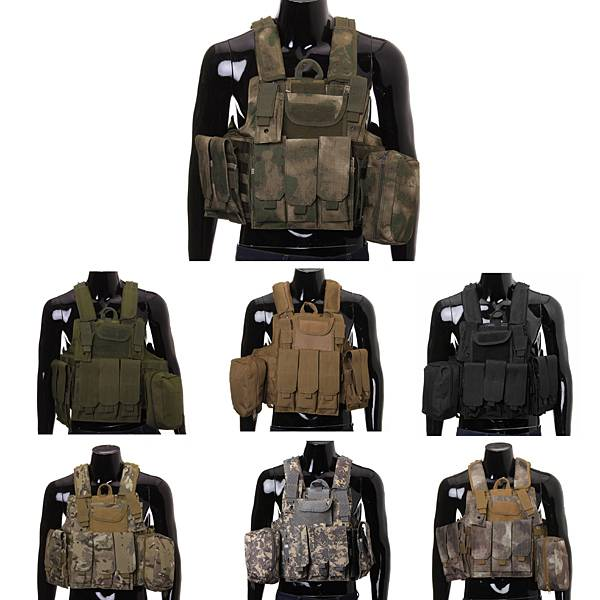Tactical SWAT Camping Hunting Vest Chest Rig With Pouches Hunting