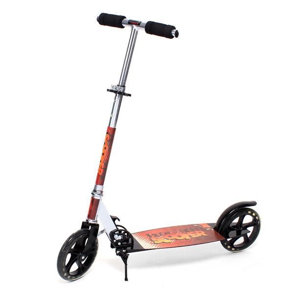 Tohjulet Scooter Folding Kick Scooter for Teenagere Voksne Udendørs Leg