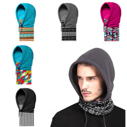 Versatile Polyester Fleece Beanies Skiing Hats Caps Face Mask Scarf