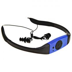 Vandtæt Sport Genopladeligt In-Ear Headphone MP3-afspiller FM-radio