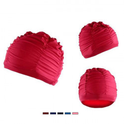 Woman Swimming Cap Plicated Swimming Caps Bath Hats