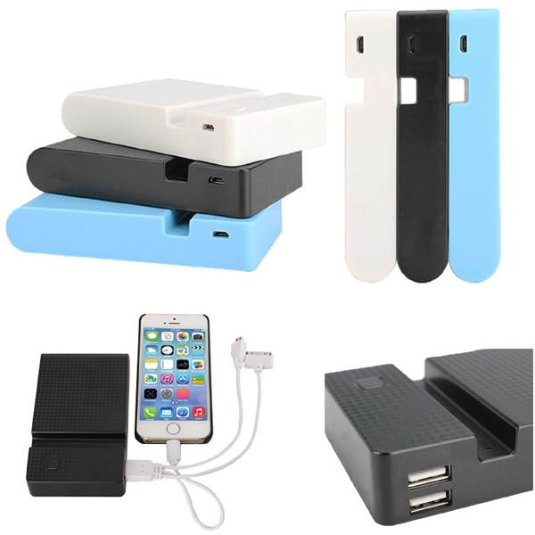 12000mAh Ekstern Batteri USB Oplader Powerbank til Tablet iPhone Tablet Tilbehør
