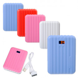 15000mAh Suitcase Design External Charger LED Power Bank For Tablet