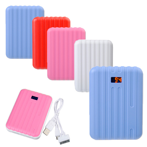 15000mAh Suitcase Design External Charger LED Power Bank For Tablet Tablet Accessories
