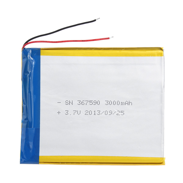 3000mAh 3.7V Rechargeable Lithium Battery For Tablet Tablet Accessories