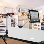 3 I 1 Multifunktionella Hållare Justerbart Stativ Fästen för iPad Surfplatta iPad Tillbehör