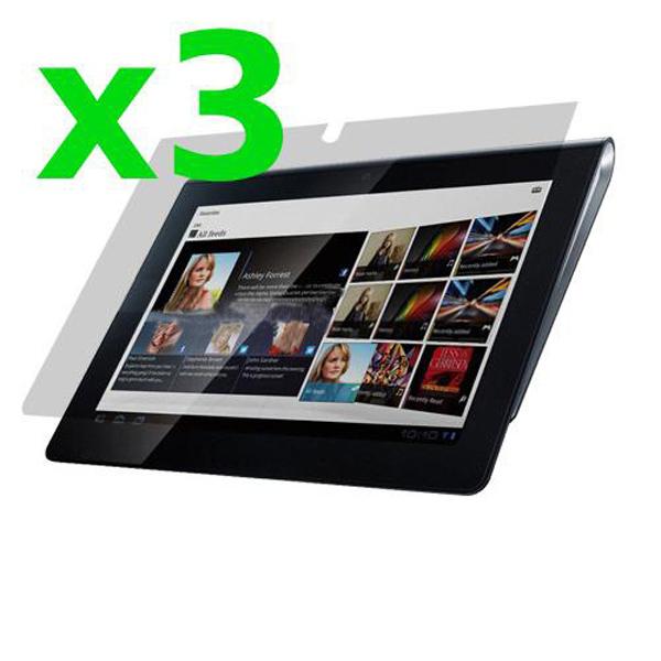 3x Clear Skärmskydd Skyddar Film Flår för Sony S S1 Surfplatta Surfplatta Tillbehör