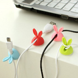 4xRabbit Cable Drop Clip Wire USB Charger Holder Random Shipment