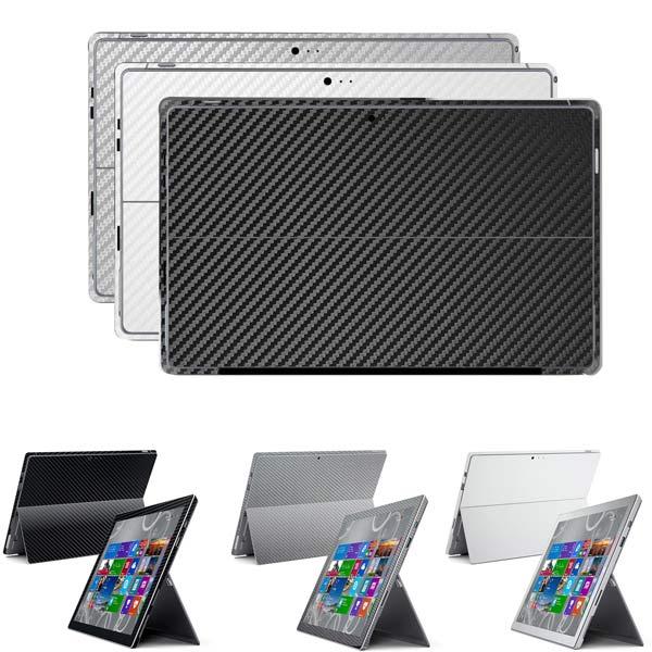 Kolfiber Film Skyddande Skydd Flår för Microsoft Surface Pro3 Surfplatta Tillbehör