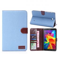Denim Design Folio PU Läderfodral Skydd för Samsung Galaxy T230