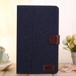 Denim Design Folio PU Läderfodral Skydd för Samsung Galaxy T320