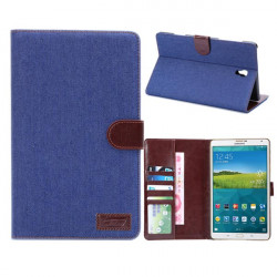 Denim Design Folio PU Leather Case Cover For Samsung Galaxy T700