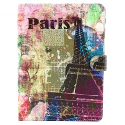Eiffel Tower Pattern Folio PU Leather Case Cover For Samsung T800