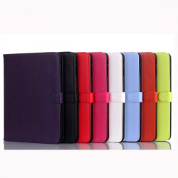 Vikbart Ställ PU Läderfodral Skydd för Samsung Galaxy Tab4 T530