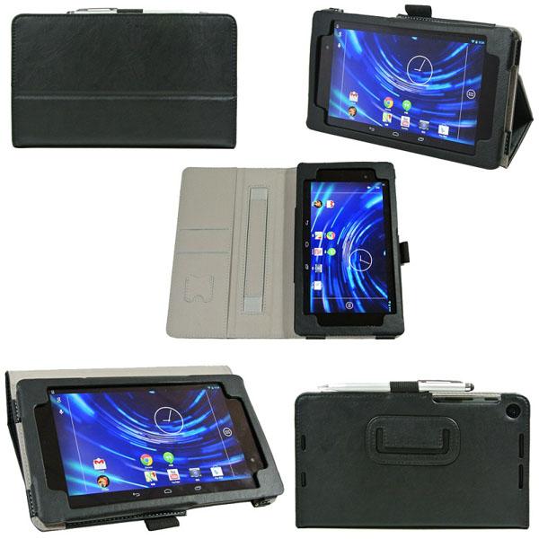 """Folio PU Läderfodral Skydd Med Stylus för 7"""" Google Nexus 2 Surfplatta Tillbehör"""