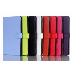 Folio PU Läderfodral Vikbart Ställ Fodral för Samsung Tab S T700