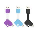 Key Chain Design Micro USB Ladekabel Tablet Tilbehør