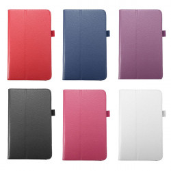 Litchi Pattern Folio PU Leather Case Cover For Samsung Galaxy T310