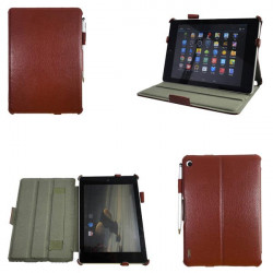 Litchi Pattern Folio PU Leather Case With Handstrap+Stylus For Acer A1